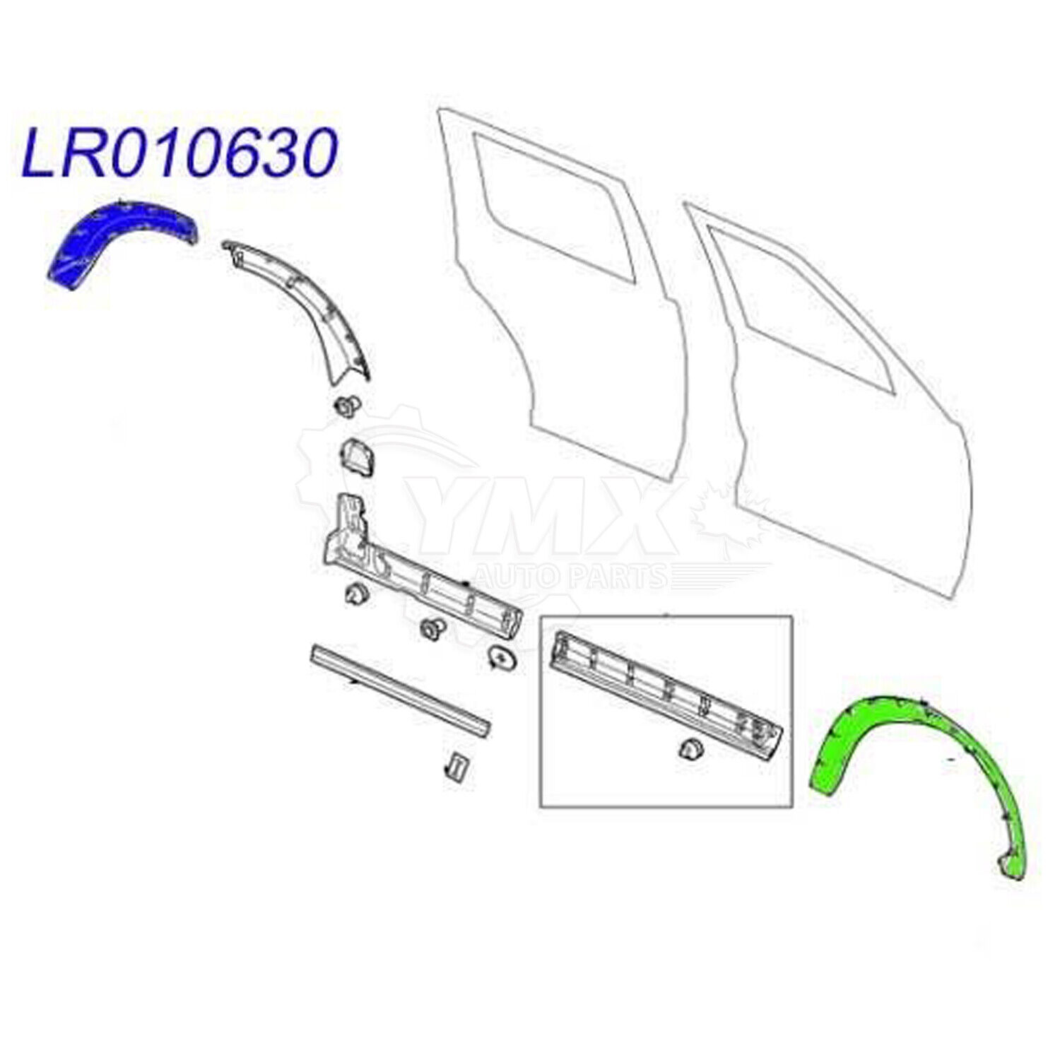 LR010630 For Land Rover Rear Fender Flare Wheel Arch