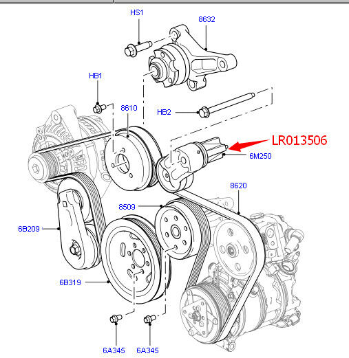 2006 Range Rover Sport Supercharged Belt Diagram