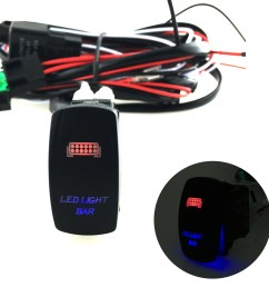 5 pins led light bar driving switch relay rocker switch wiring loom harness 12v [ 1000 x 1000 Pixel ]