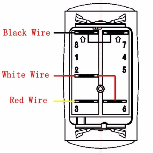 small resolution of 5 pins led light bar driving switch relay rocker switch wiring loom harness 12v
