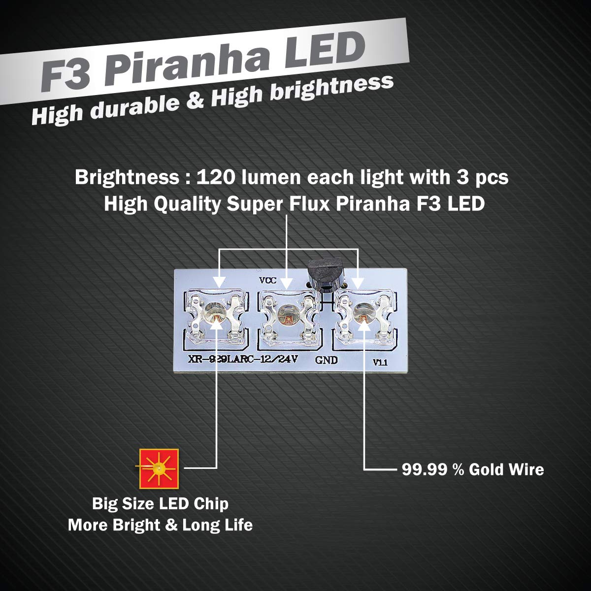 Using Superflux Also Known As Piranha Leds