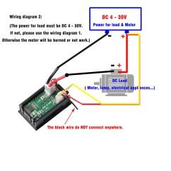 Digital Voltmeter Wiring Diagram Flow Chart Meanings Mini Dc 100v 10a Ammeter Blue Red Led Volt Amp Meter Gauge Us 6006372530576 | Ebay