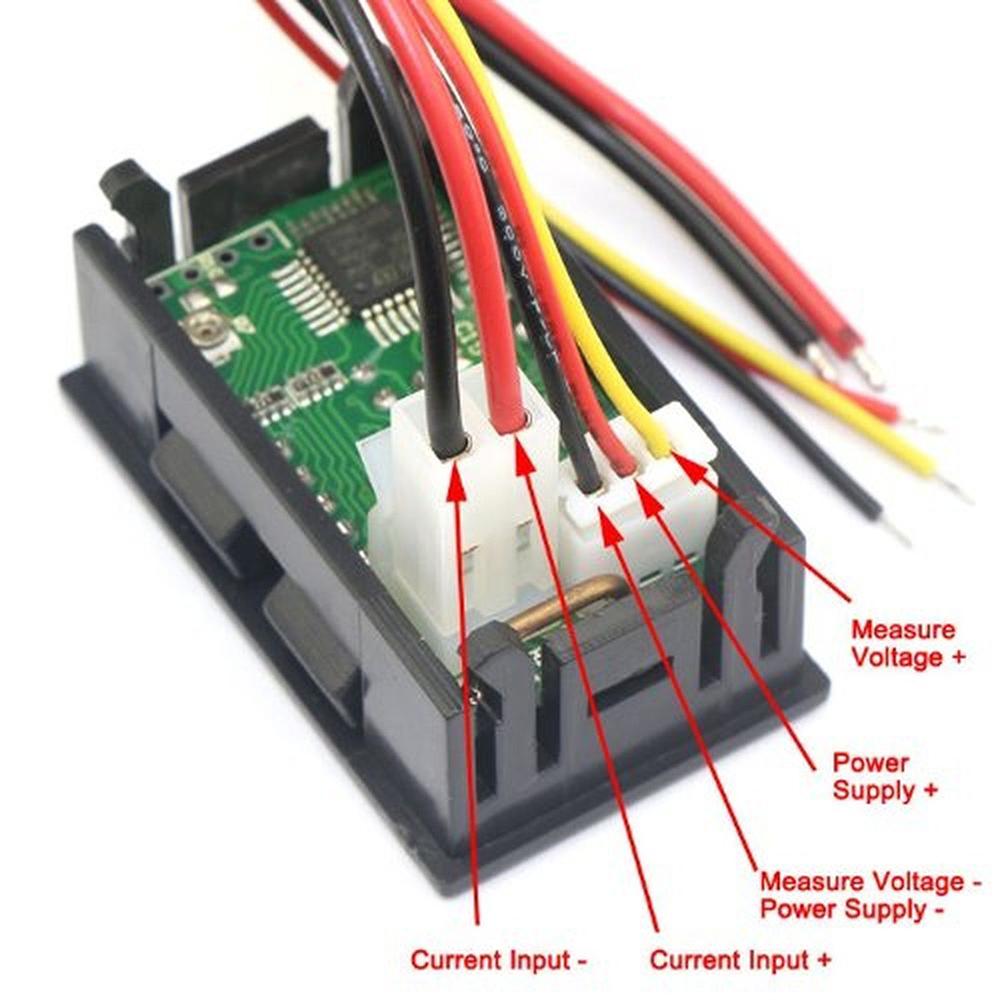 medium resolution of mini dc 100v 10a digital voltmeter ammeter blue red led volt amp meter gauge us