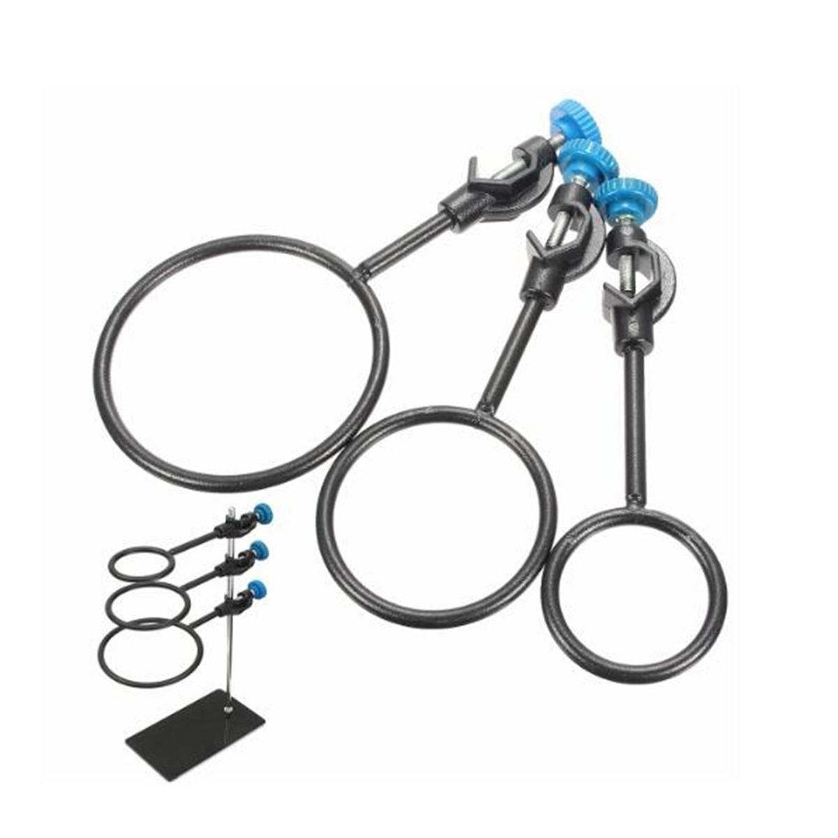 3Pcs Metal Iron Support Ring Lab Stand Loop Kit With