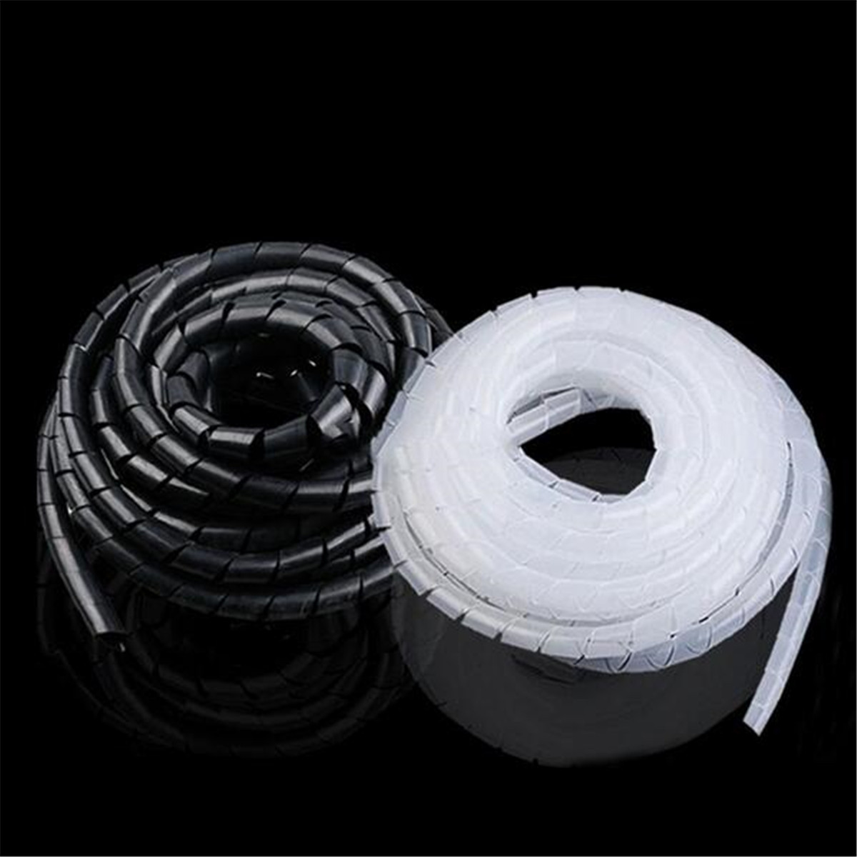 hight resolution of details about 2m 6mm spiral cable wrap tidy hide binding wire management pc tv home office
