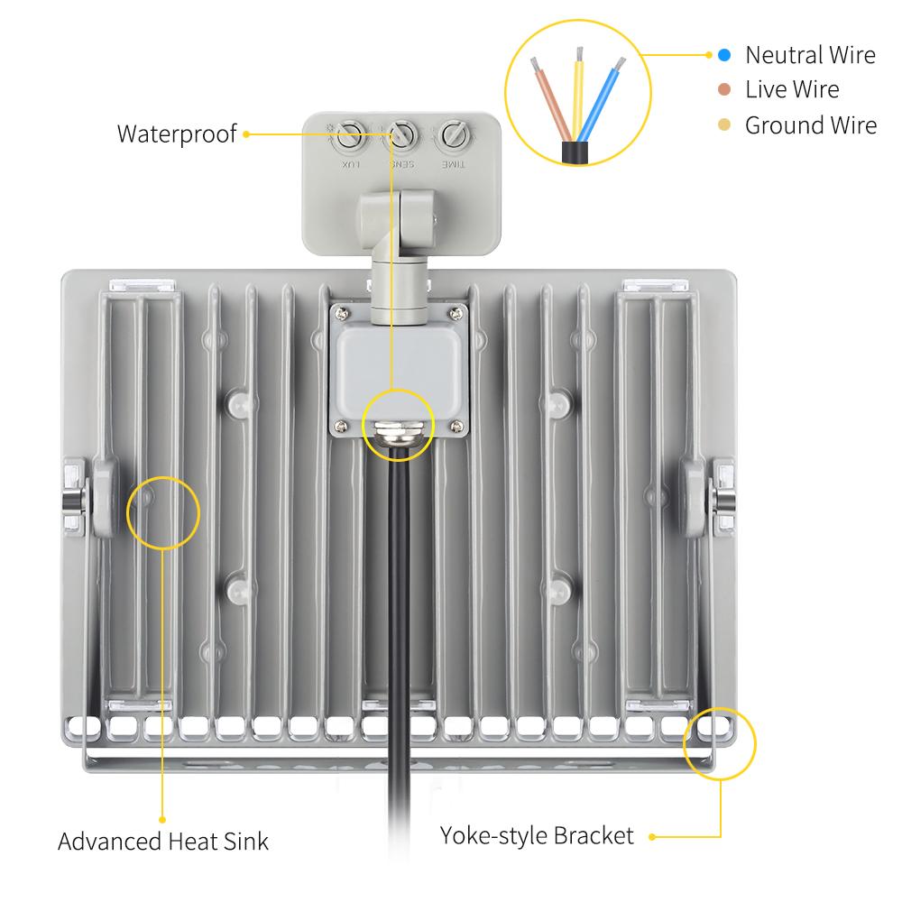 medium resolution of 2x 100w led outdoor motion sensor flood lights garage driveway security daylight