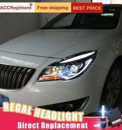 details about 2pcs for buick regal headlights assembly bi xenon lens projector led drl 14 17 [ 900 x 900 Pixel ]