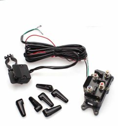 12v atv utv solenoid relay contactor winch rocker thumb switch [ 1000 x 1000 Pixel ]