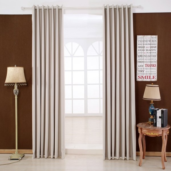2 Panels Thermal Blackout Grommet Window Curtains
