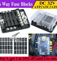 details about 6 way car auto boat bus rv utv blade fuse box block cover 32v with led indicator [ 1000 x 1000 Pixel ]