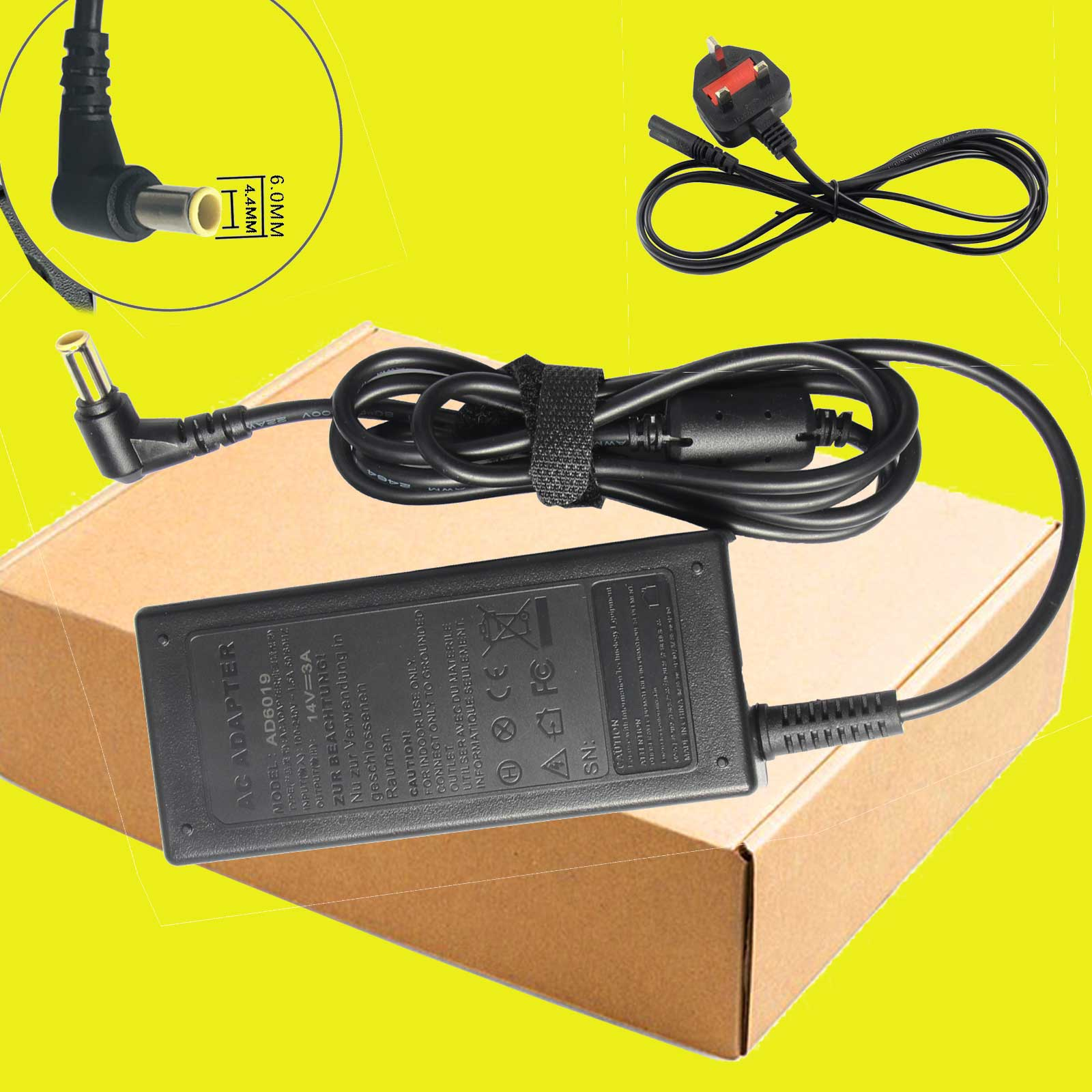 hight resolution of details about dc 14v 1 786a 100 240v ac adapter power cord for samsung a2514 dsm s22c monitor