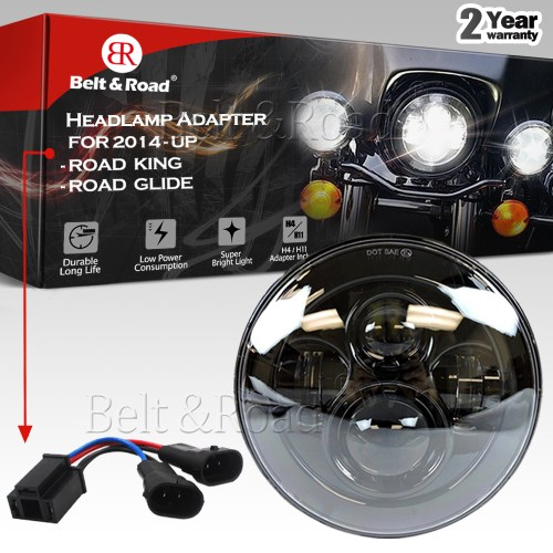 small resolution of details about 7 led headlight dual beam splitter adapter 14 17 harley street glide special