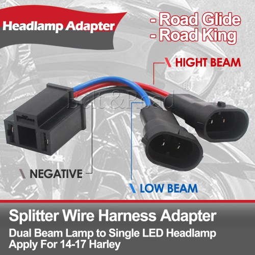 small resolution of details about dual beam headlight splitter harness adapter for harley road glide street glide