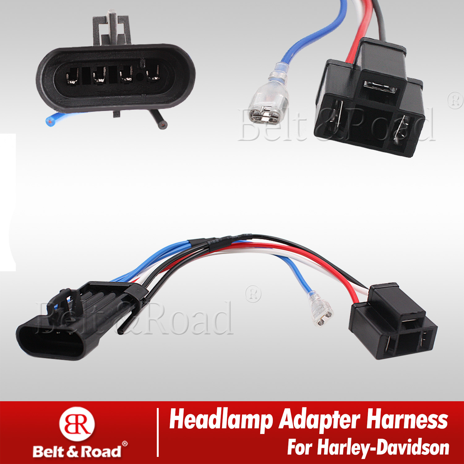 hight resolution of details about harley led headlight harness adapter wire connector socket adapter for 2014 2018
