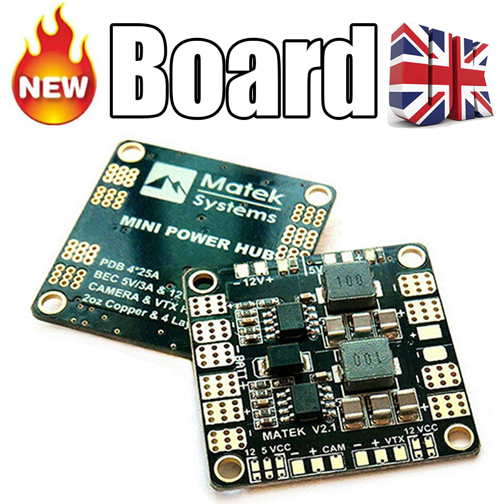 medium resolution of matek pdb power distribution board 5v 12v bec output support 3s 6s quadcopter uk