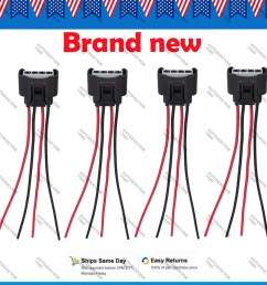 details about 4 x ignition coil wire harness connector plug pigtail for toyota 90980 11885 [ 1000 x 1000 Pixel ]