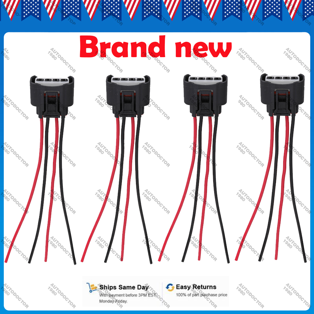 hight resolution of details about 4 x ignition coil wire harness connector plug pigtail for toyota 90980 11885