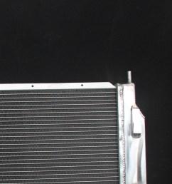 3 row core aluminum radiator for chrysler 300m intrepid dodge intrepid v6 98 04 [ 1600 x 1600 Pixel ]