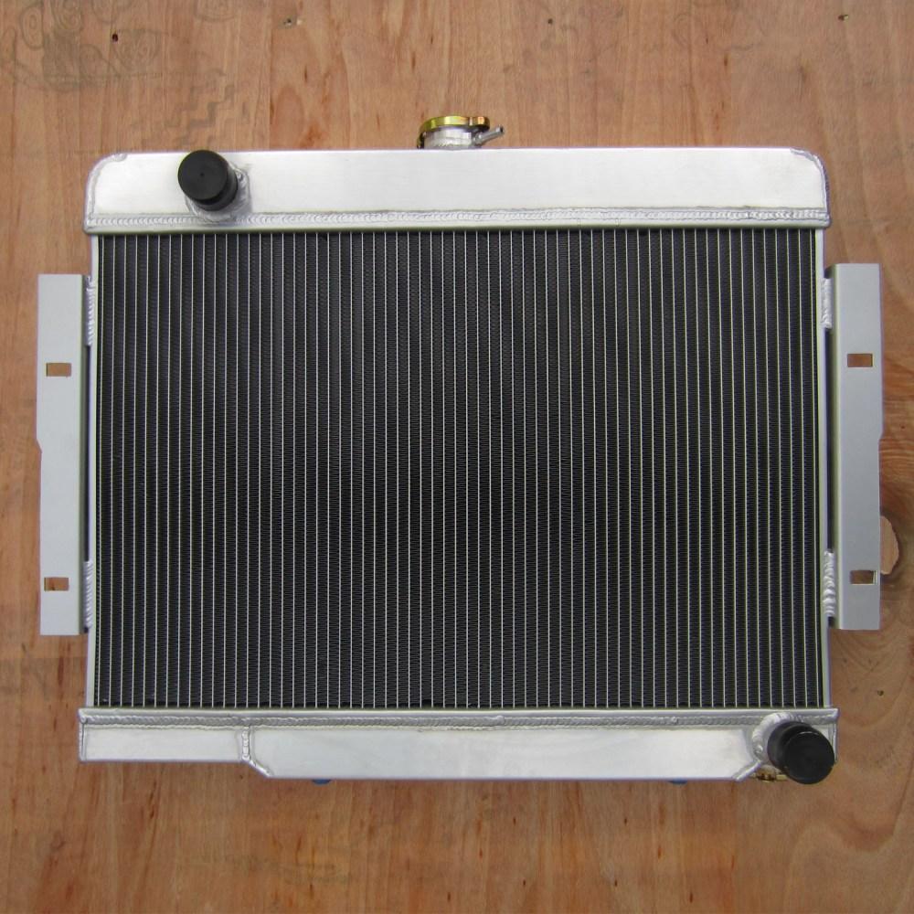 medium resolution of aluminum radiator fit jeep cj series v8 conversion engine cj5 cj6 cj7 3row 73 86