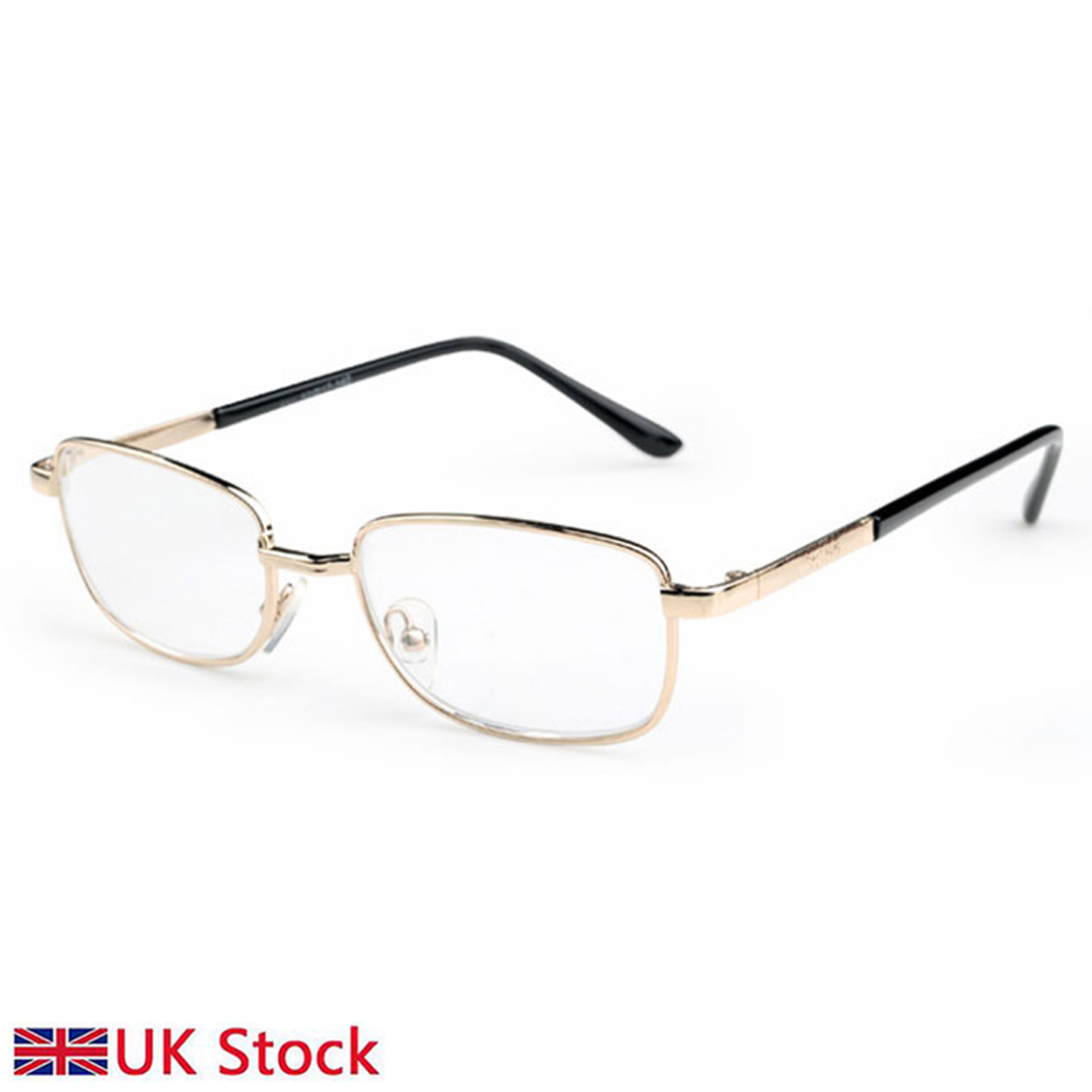 Men and women Blu-ray reading glasses metal half frame