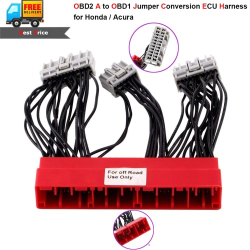 small resolution of details about ecu harness obd2 a to obd1 jumper conversion wire for acura accord civic 96 98