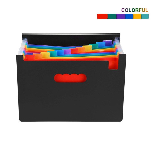 Layer Pockets Office Desk Document Organizer Expanding File Folder