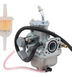 new carburetor for yamaha moto 4 yfm 80 moto 4 yfm80 carb w fuel filter [ 1200 x 1064 Pixel ]