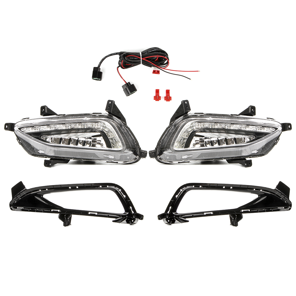 Car Drl Led Daytime Running Lights Fog Lamp Cover For