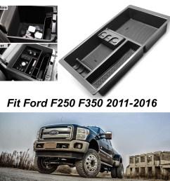 for 2011 2016 ford super duty f250 f350 car console storage box organizer tray [ 1200 x 1200 Pixel ]