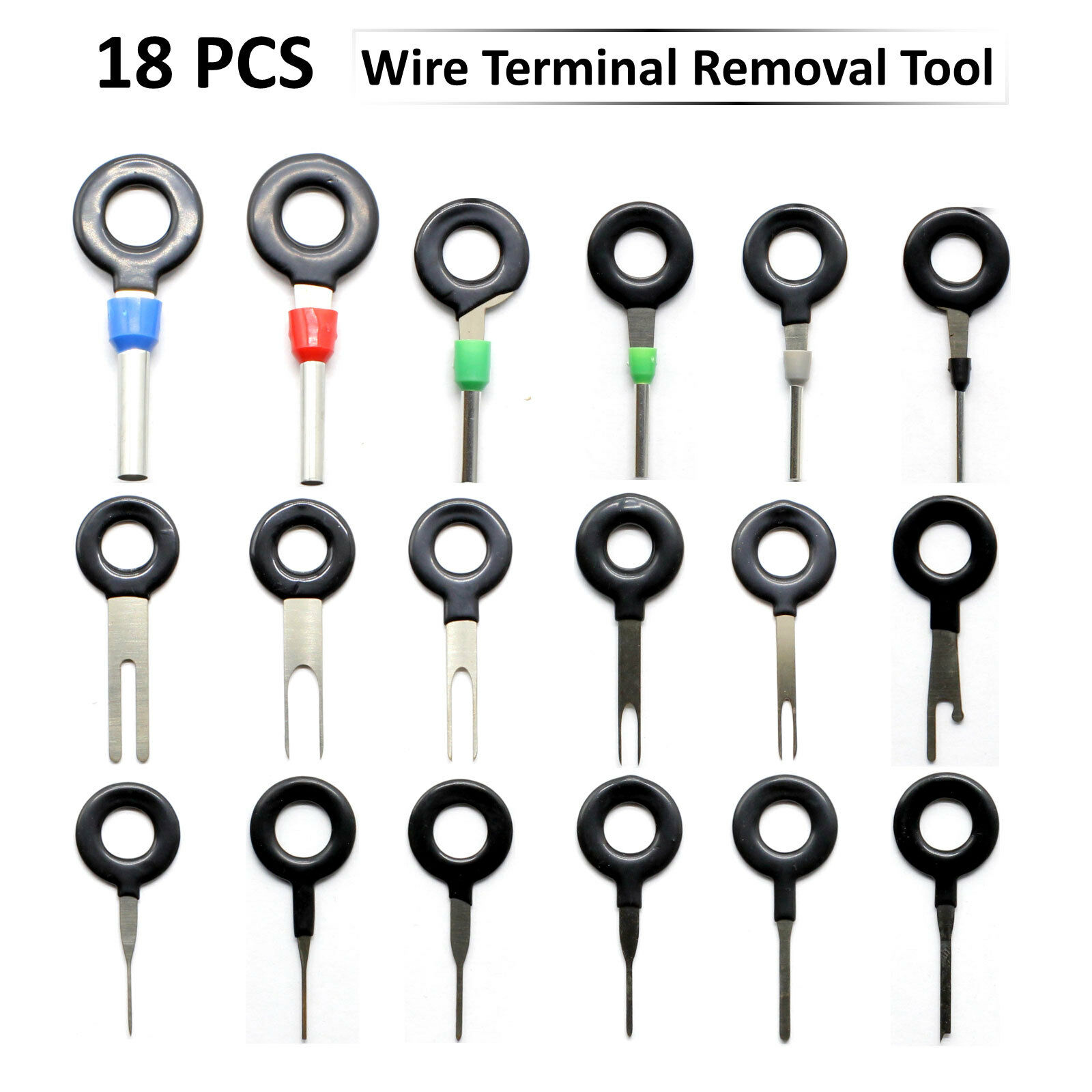 18 Pcs Wire Terminal Removal Tool Car Electrical Wiring