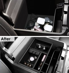 for 2011 2016 ford super duty f250 f350 car console storage box organizer tray [ 1001 x 1200 Pixel ]