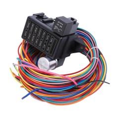 12 circuit basic wire harness fuse box street hot rat rod wiring car car fuse fan plug box [ 1000 x 1000 Pixel ]