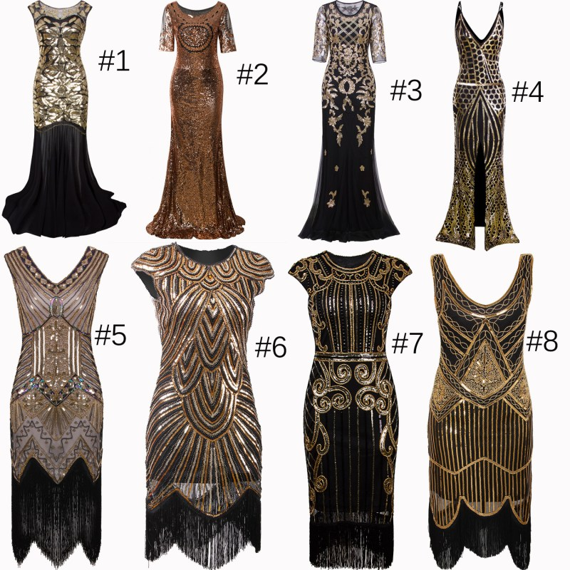 Vintage Style 1920s Dress Flapper Costume 20s Evening Gown ...