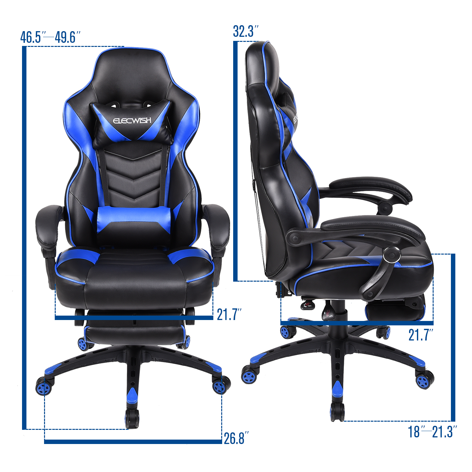 Recliner Computer Chair Soltekonline Elecwish Office Gaming Chair Racing Recliner