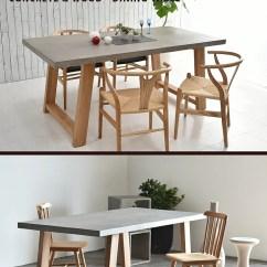 Concrete Kitchen Table Remodel Cost Bay Area Casa Hils Meridian Dining Table混凝土天板餐桌160cm180cm水泥橡樹潔凈 商品資訊