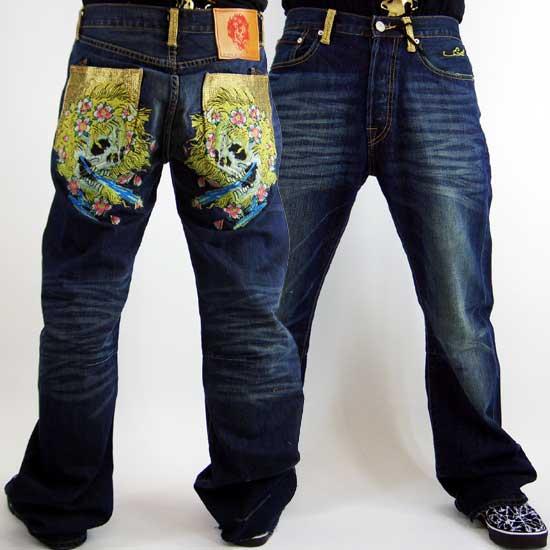 cioinc Ed Hardy Mens Denim Jeans Beautiful Ghost Pocket