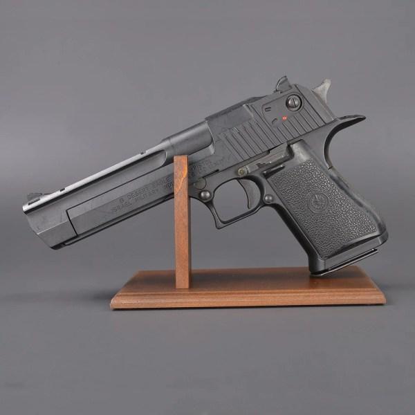Outdoor Imported Goods Repmart Handgun Stand Wood Display 37 Mm