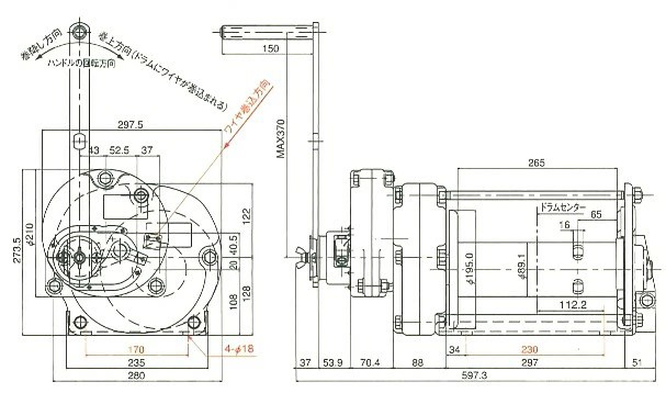 first23: Maxpull manual winch model GM swivel winch GM-30