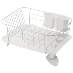 Kitchen Drainer Basket Cutler And Bath Vanity Livingut Draining Rack Dish Steel Tray Stand Wooden White
