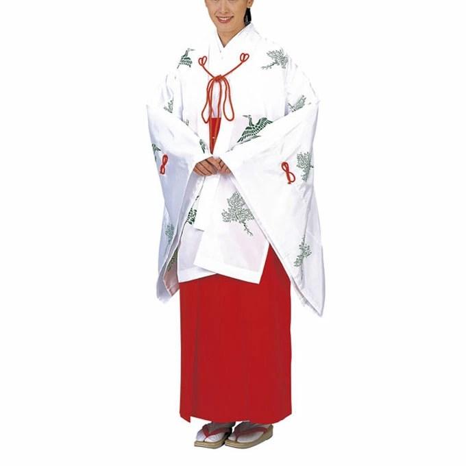 【楽天市場】巫女服 巫女裝束 神事にはもちろん,巫女さんコスプレにも。:ODORI Company 楽天市場店