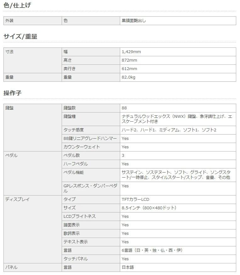 YAMAHA CVP-701B ブラックカーペット(大)セット 電子ピアノ クラビノーバ 88鍵盤 【ヤマハ