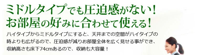 高さ調節!棚コンセント付 ロフトベッド【ORCHIS-オーキス-】