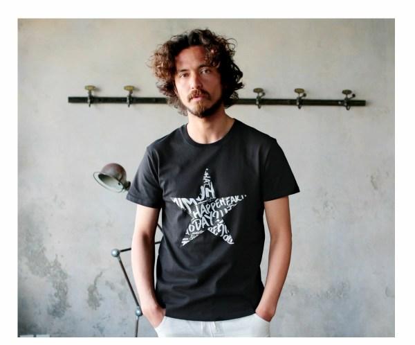 Tシャツ メンズ「STAR」L柄