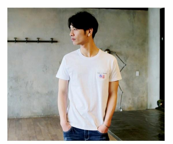 Tシャツ メンズ「Center of the world」R柄