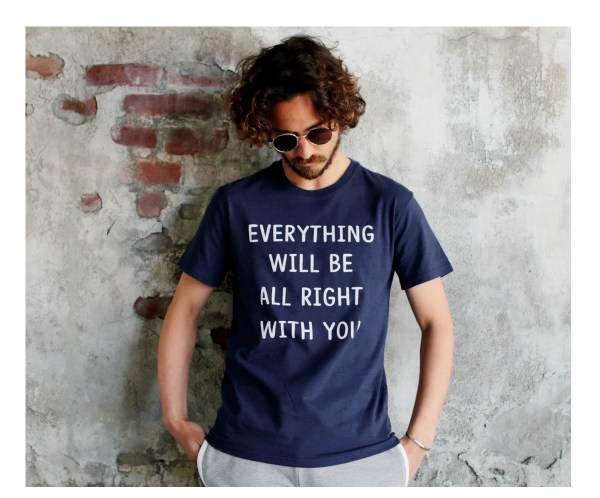Tシャツ メンズ「EVERYTHING WILL BE ALL RIGHT WITH YOU」G柄