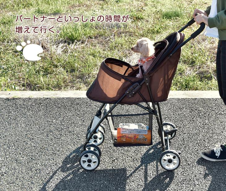 【ドッグカート】折りたたみ式ペットカート 手荷物を入れる収納カゴ付きで便利♪