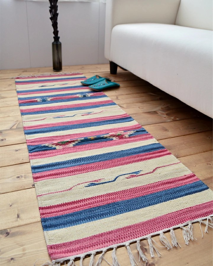 navy blue kitchen rugs wall paper borders for kitchens tabisuru asia no zakkaten 棉花kilim 厨房地毯150 厘米ind kilim 房间 产品信息