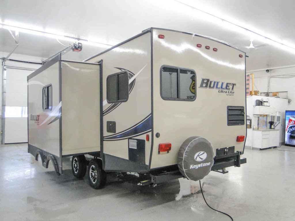 travel trailers with rear kitchen chalkboards 2017 new keystone bullet 248rks