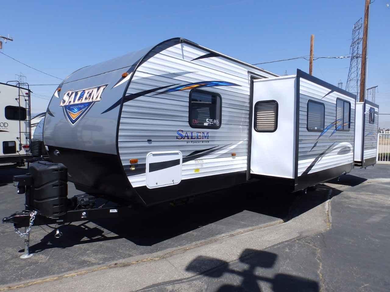 travel trailers with rear kitchen modern sinks 2018 new forest river salem 32bhds 2 slides exterior