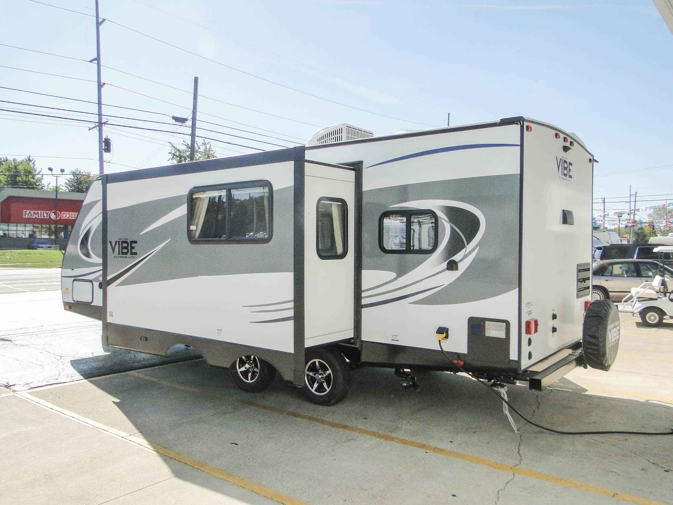 travel trailers with rear kitchen sink plumbing 2018 new forest river vibe extreme lite 258rks